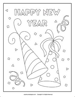 new year s party hats coloring pages stuffed animal sewing patterns squishy cute designsnew