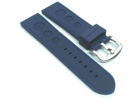 u boat watch replacement parts 24mm rubber strap watch band for u boat 48mm luminox blue