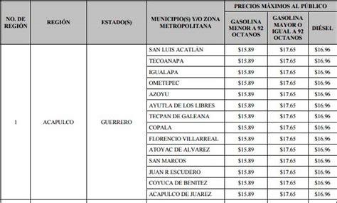 gasolina pagada en efectivo 2016 lista de precios de la gasolina en guerrero 2017 frases