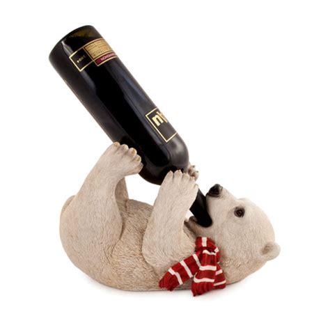 single wine bottle holder frolicking polar bear single wine bottle holder
