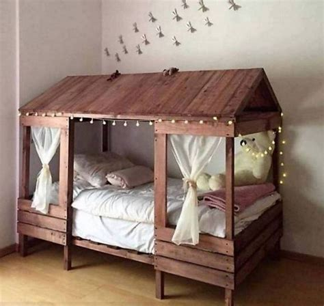 diy pallet toddler bed cabin style bed made with pallets these are the best