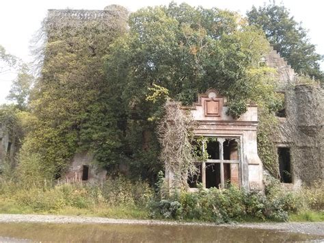 house taken over an old scottish manor house taken over by nature
