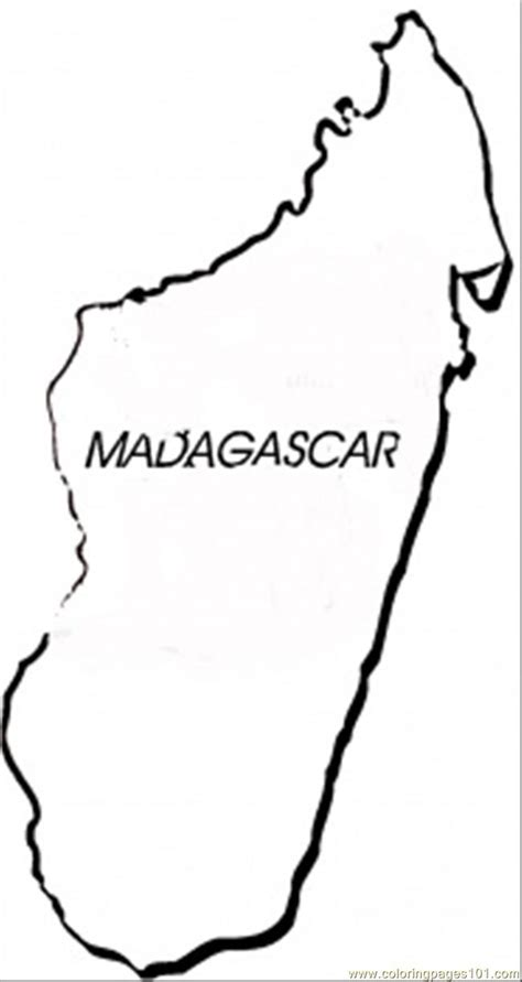 Madagascar Map Coloring Page | country of madagascar pages coloring pages