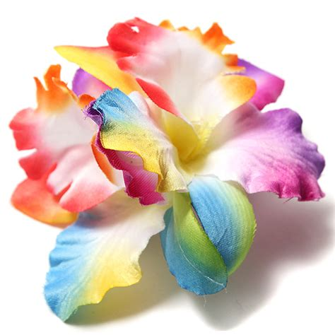 Orchid Hair Clip Sky Blue bridal wedding hair clip barrette orchid floral