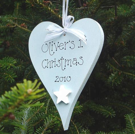 personalised christmas decorations uk letter of