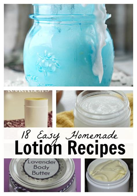 Handmade Lotion Recipes - easy lotion recipes house living