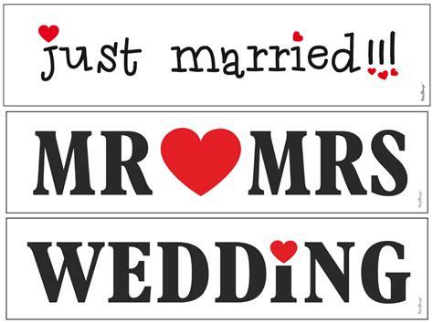 Just Married Autoschild Mit Dosen by Hochzeitauto Schild Quot Just Married Quot F 252 R Kennzeichenhalter