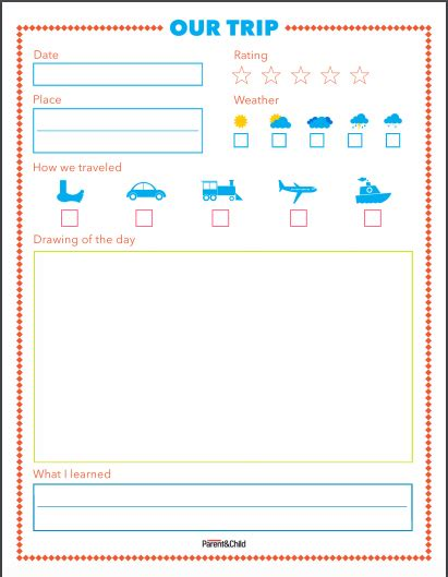 printable travel journal pages free printable summer travel journal for kids travel
