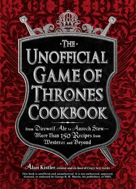 the unofficial game of bol com the unofficial game of thrones cookbook alan
