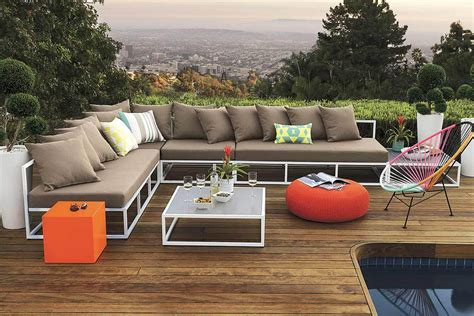 cb2 outdoor sectional 6 outdoor sectional sofas for a contemporary patio