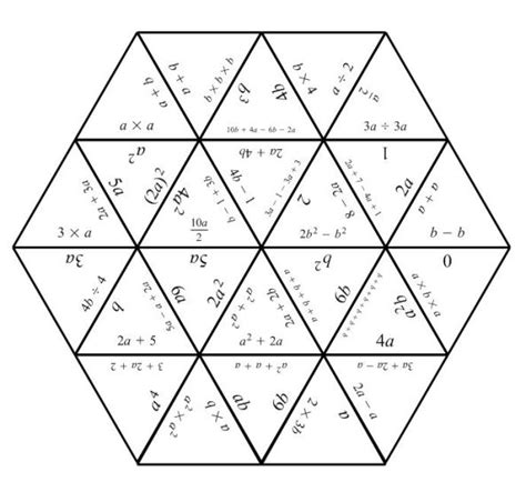 hexagon puzzle template tarsia puzzles mathematics learning and technology