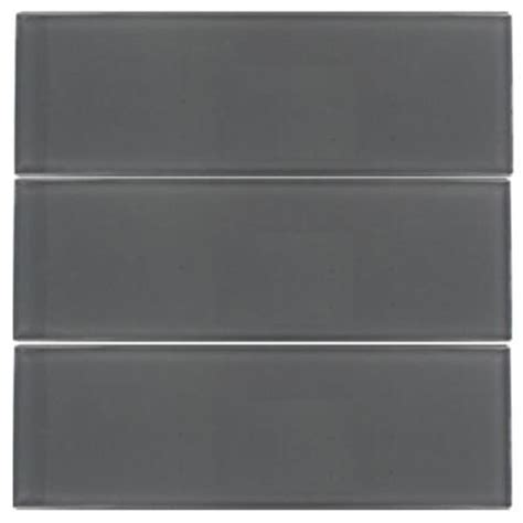 smoke gray glass subway tile splashback tile contempo smoke gray polished 4 in x 12 in