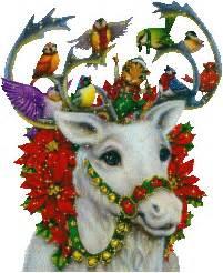 animated white christmas reindeer