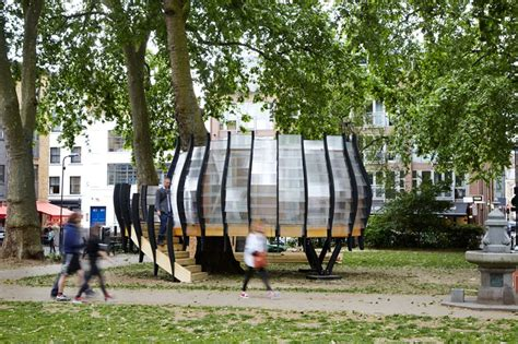 temporary coworking treehouse planted   london park
