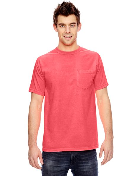 comfort colors pocket t shirt comfort colors 6 1 oz garment dyed pocket t shirt s 3xl m
