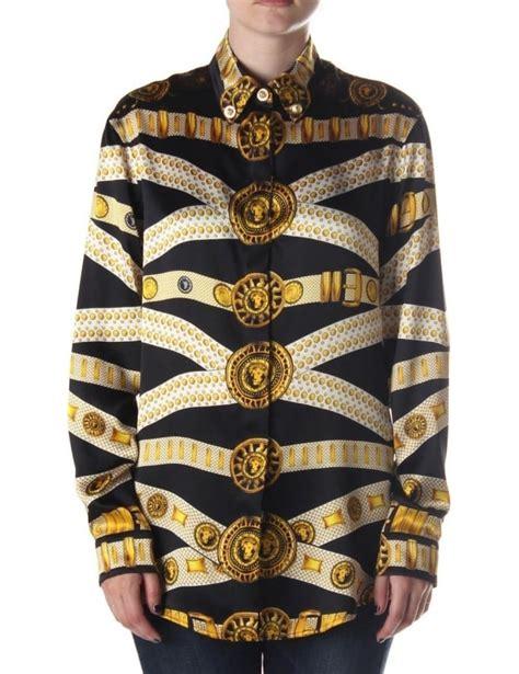 versus versace border pattern t shirt versace belt pattern women s silk shirt black