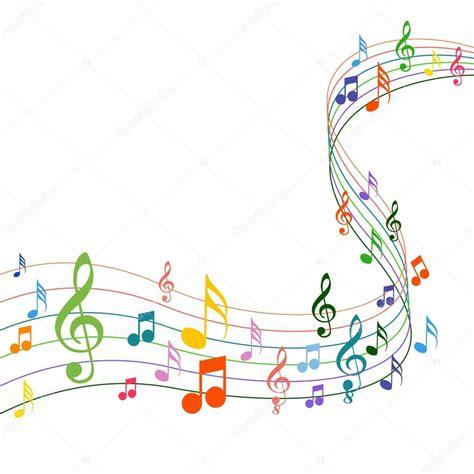 color notes notes de musique de couleur sur un fond solide blanc