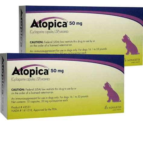 atopica for dogs atopica for dogs 16 1 33lbs 50mg 30 caps