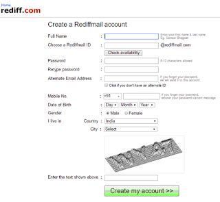 rediffmail account | rediffmail sign up | rediffmail inbox