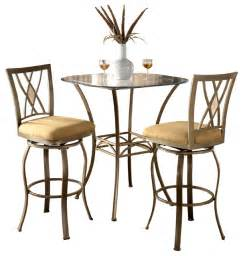 Small Indoor Bistro Table Set Brookside 3 Brown Powder Coated Bistro Set Contemporary Indoor Pub And Bistro Sets