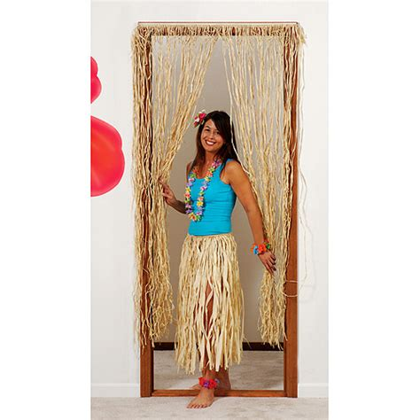 raffia curtain 6 raffia door curtain walmart com