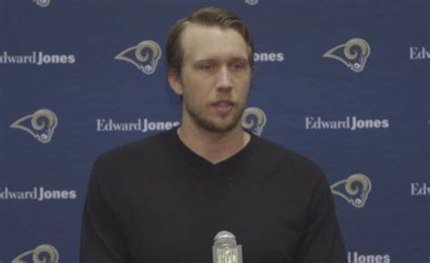 nick foles benched nick foles benched by rams for case keenum larry brown