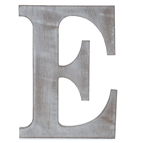 e block letter wood block letter charcoal grey 14in e the lucky