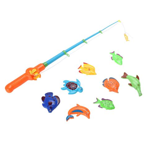 bathtub fishing game magnetic fishing game set toy rod 8 fish catch hook pull