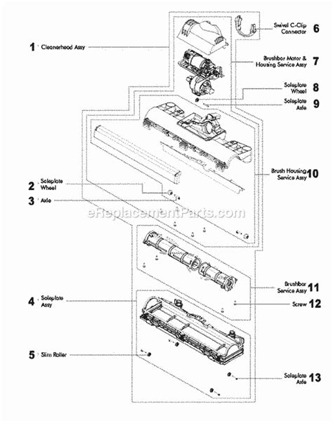 dyson parts diagram dyson dc40 parts list and diagram ereplacementparts