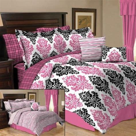 Black Damask Comforter Set by Details About Pink Black Damask 10pc Comforter Set Or