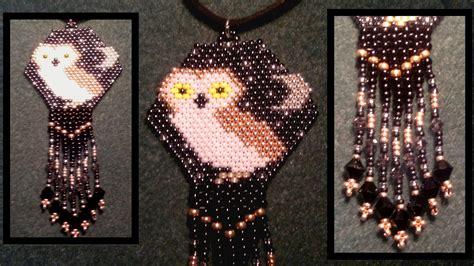 beading brick stitch tutorial beading4perfectionists brick stitch beaded owl pendant