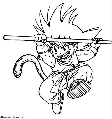 imagenes para colorear de goku dibujos de goku de peque 241 o dragonball para colorear