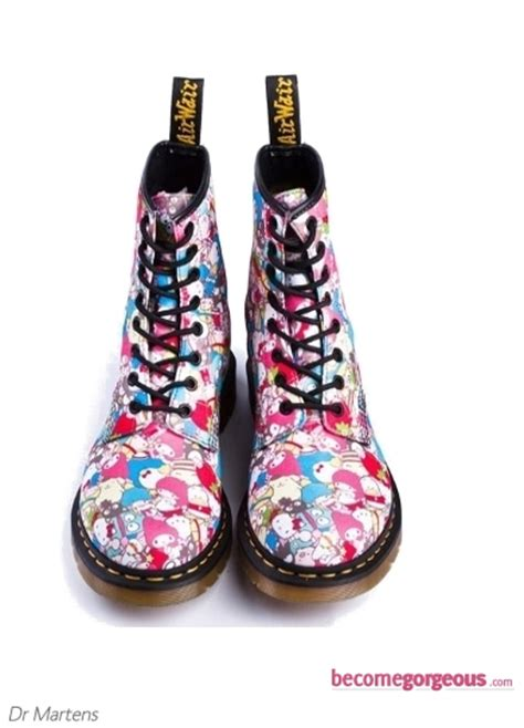 colorful boots pictures hello shoes 2011 dr martens hello