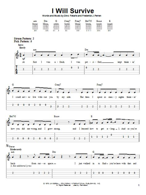 I Will Survive Guitar Chords