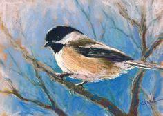 watercolor tutorial chickadee winter female cardinal oil painting bird portrait wildlife