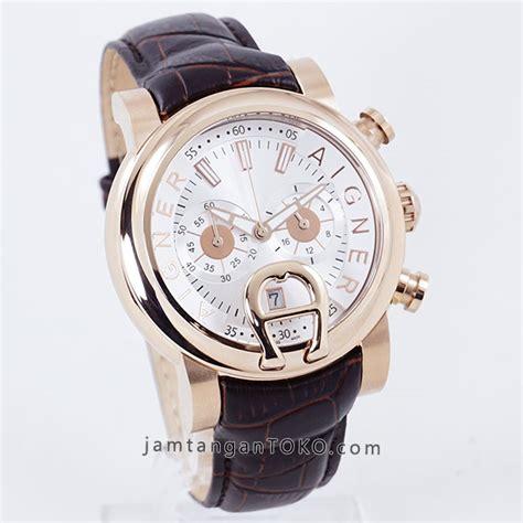 Jam Tangan Pria Wanita Aigner Bari Blue Gold gambar on aigner bari chronograph pria kulit coklat gold 187 jamtangantoko