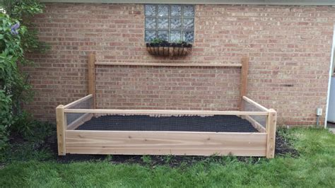 10 Foot Garden Trellis One 3x10 Ft Pine Raised Bed With 4 Foot Trellis And Fencing