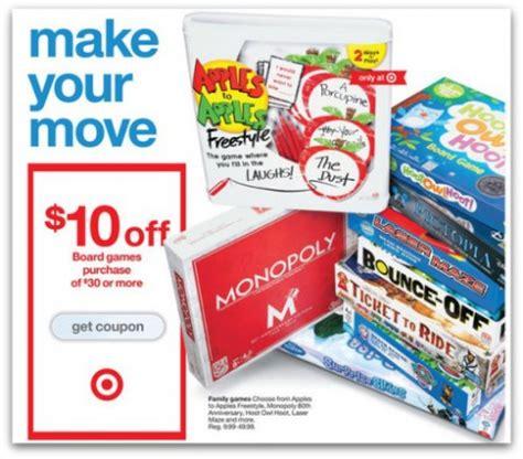 printable board game coupons target 10 off 30 board game purchase 10 cartwheel