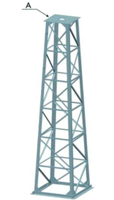 traliccio per antenne a136601 base traliccio ang mt 3 da 80x80 a 47x47