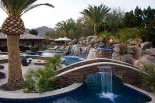 Tropical Plants Phoenix - tropical pool with fire features