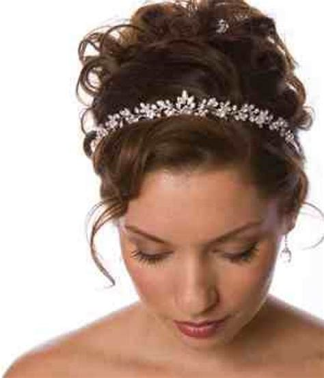 updo for tiarias elegant silver and rhinestone tiara wedding hairstyle