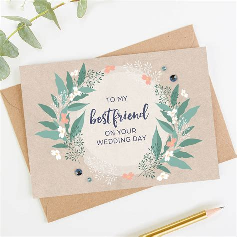 best friend wedding day card by norma&dorothy
