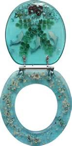 decorative toilet seat nautical dolphin lobster design