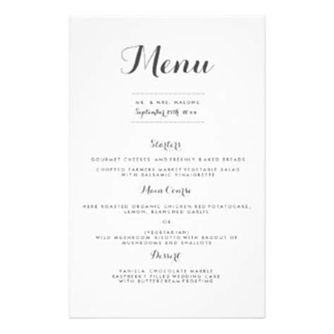 easy elegant dinner menus easy elegant dinner menus elegant flyers programs zazzle