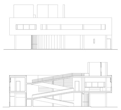 1 Level House Plans by Le Corbusier Villa Savoye Part 2 Architecture