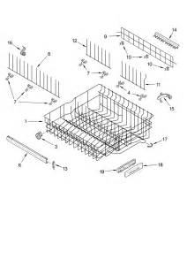 Kitchenaid Dishwasher Parts Store Rack And Track Diagram Parts List For Model