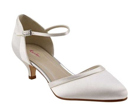 Wedding Shoes With Ankle by Rainbow Club Low Heel Wedding Shoes Ivory