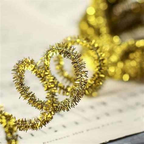 gold pipe cleaner tinsel garland christmas garlands