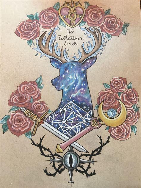 j tattoo designs acotar throne of glass sailor moon design