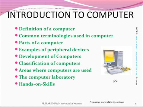 Table Computer Definition by Introduction To Computer Office 2003
